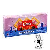 Liga Milkbreak biscuits with creamy forest fruits-raspberry filling 245g