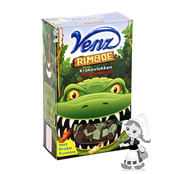 Venz Jungle crocodile flakes dark chocolate vanilla 200g
