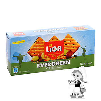 Liga Evergreen rustic biscuits currants 225g