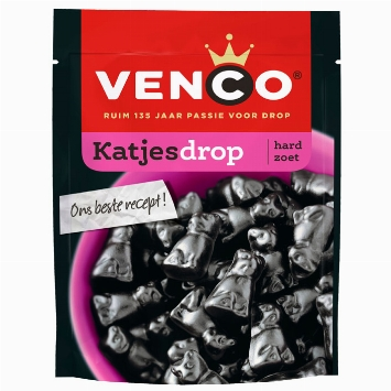 Venco Katjesdrop cat-shaped liquorice hard sweet 255g